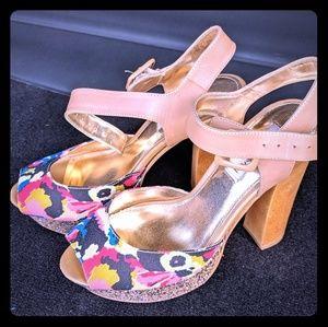 Steve Madden Jillyy Platform Glitter Heels